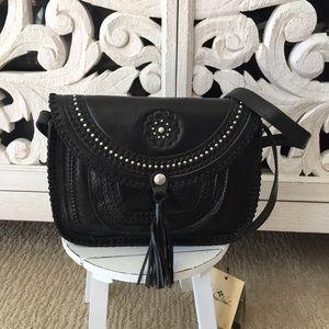 Patricia Nash Black Leather Bag